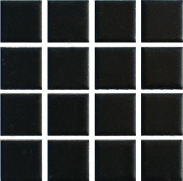 Waxman CM-890 Matt Black - Ceramic Pool Tiles - 10 Sheet Pack